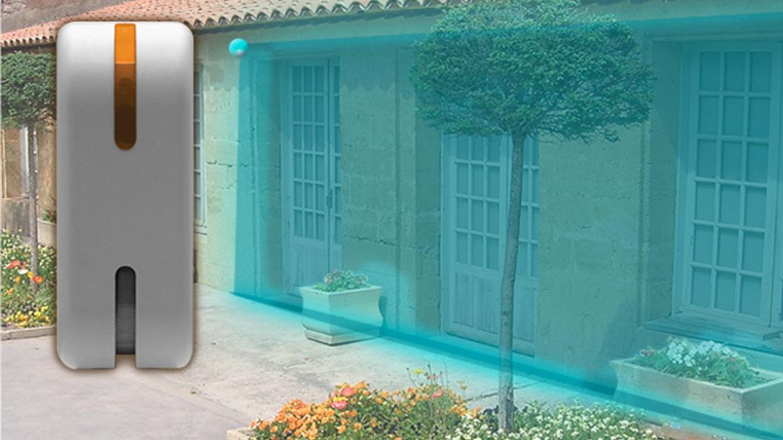Nuovo rilevatore da esterno effetto tenda: Doppia tecnologia