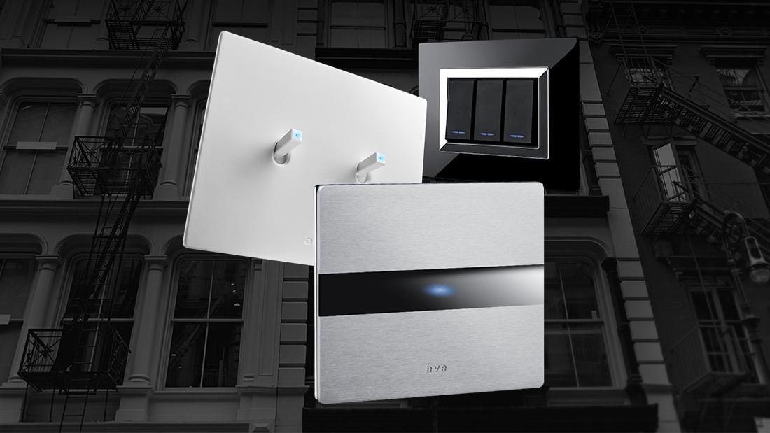 Più design per l'impianto elettrico con AVE: interruttori touch, tradizionali e a levetta
