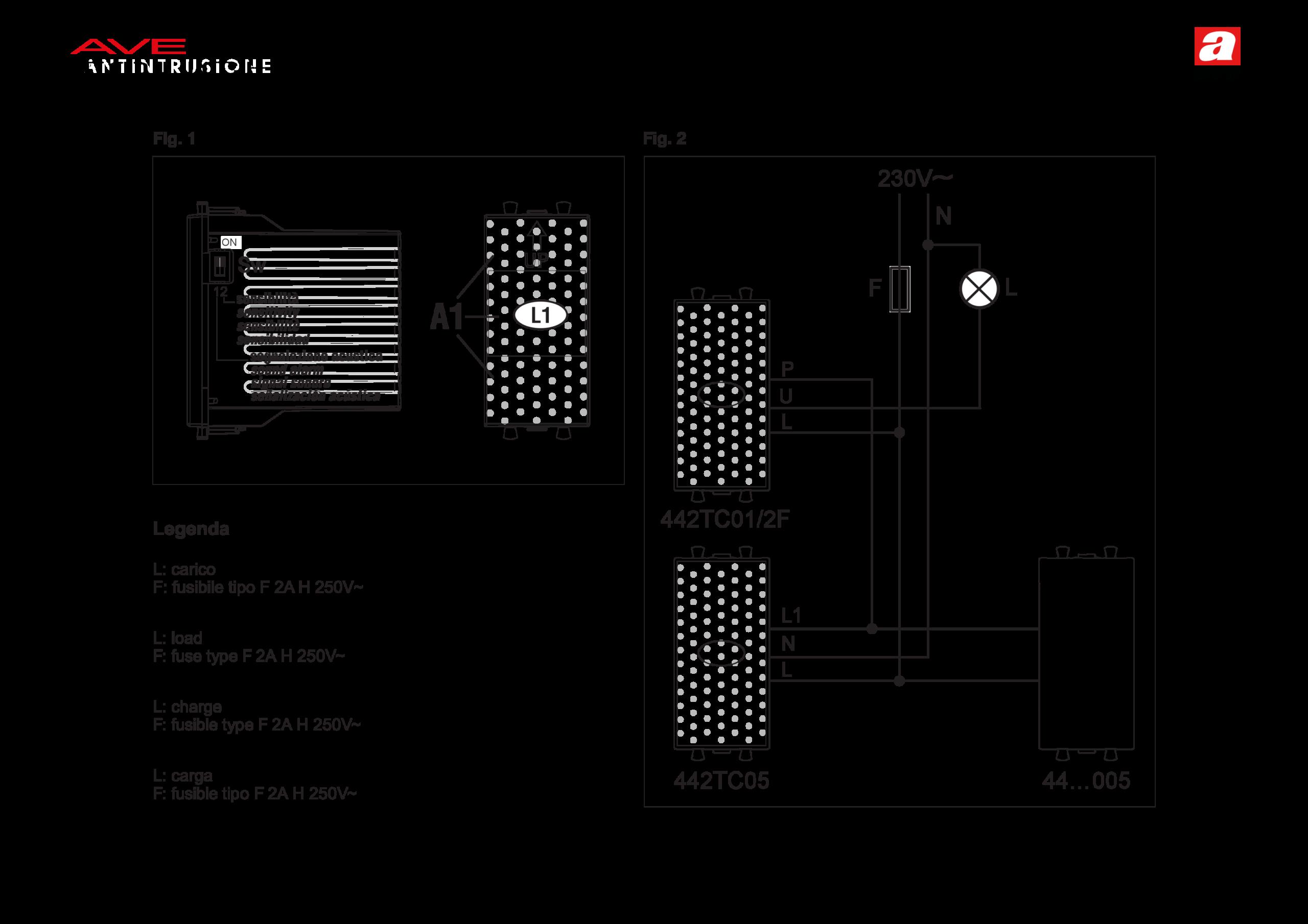 """Interruttore elettronico """"2 fili"""" 442TC01/2F"""