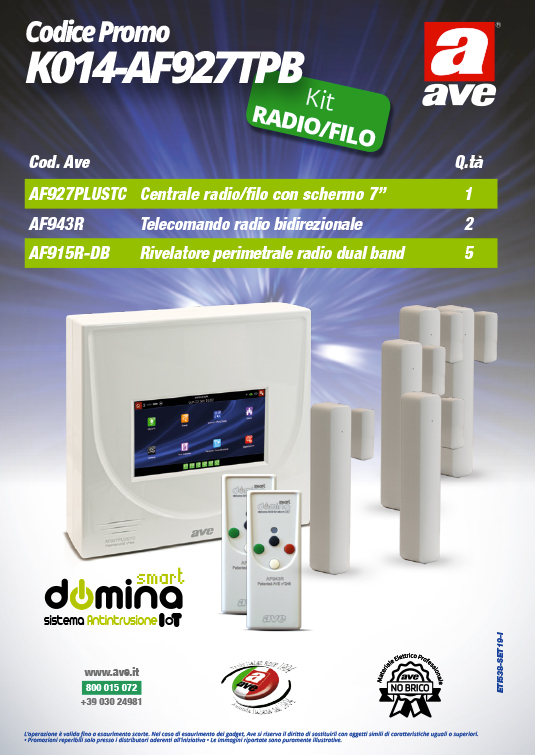 Kit Antifurto AVE K014-AF927TPB