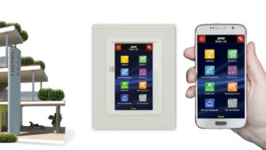 AVE hotel automation: Touch Screen for room management with smartphone supervision