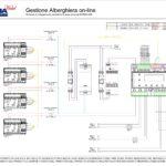 Gestione Alberghiera on-line - schema di collegamento centralina 53AR02-485