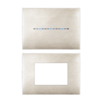 Placca YOUNG Beige spazzolato 3D