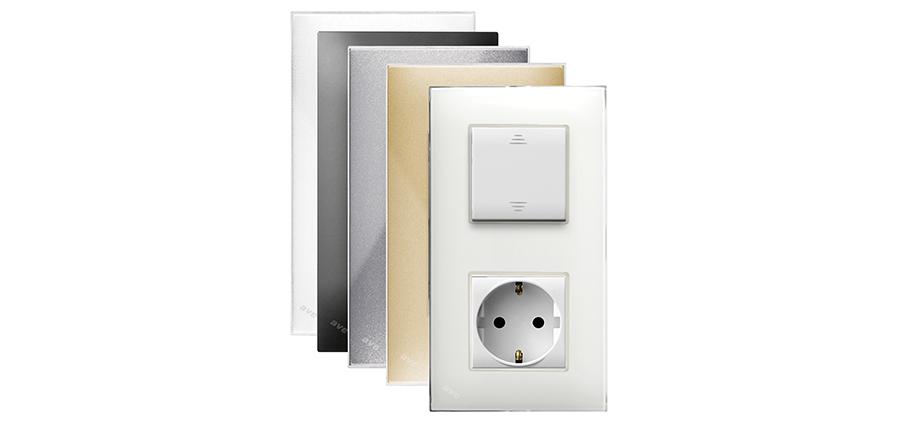 Placche Young 44 per impianti elettrici di design AVE