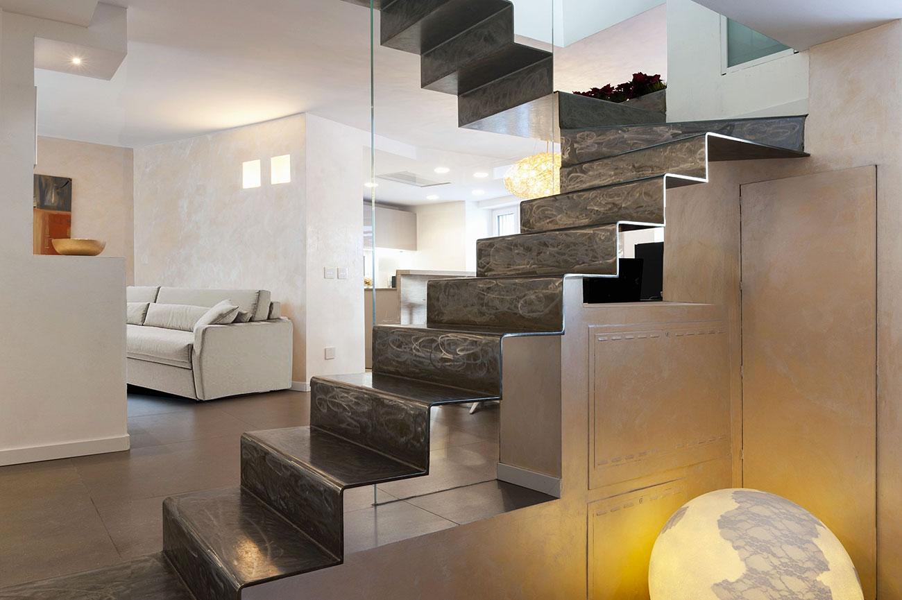 Appartamento domotica con interruttori touch