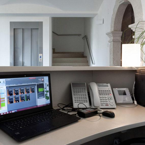 Gestione alberghiera AVE con software di supervisione