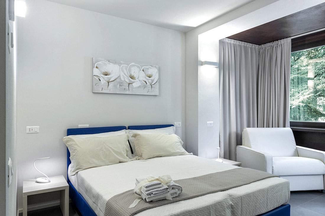 Impianto domotico nella camera d'albergo