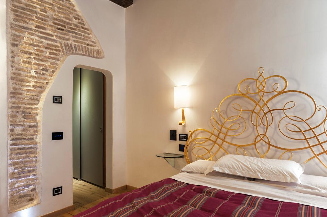 Impianto elettrico di camera all'hotel Ripetta Palace di Roma