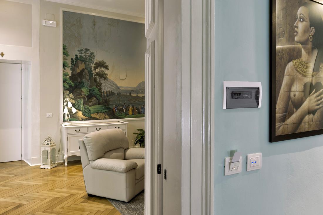Lettore di card per gestione accessi AVE alla Residenza L'Angolo di Verona