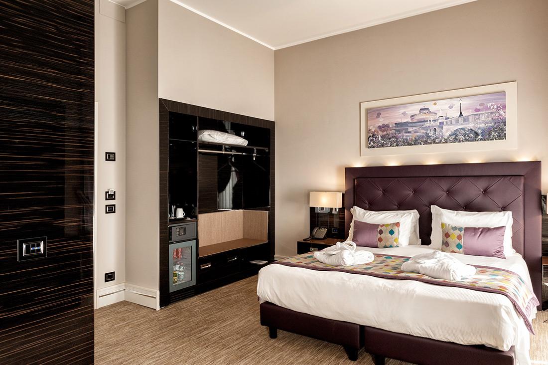 Punti luce AVE per camera dell'hotel Gioberti di Roma