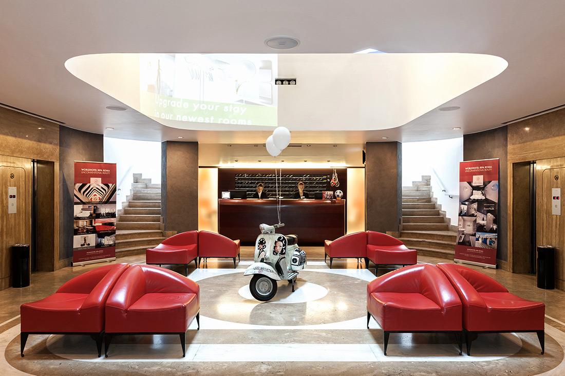Reception referenza AVE Worldhotel Ripa Roma