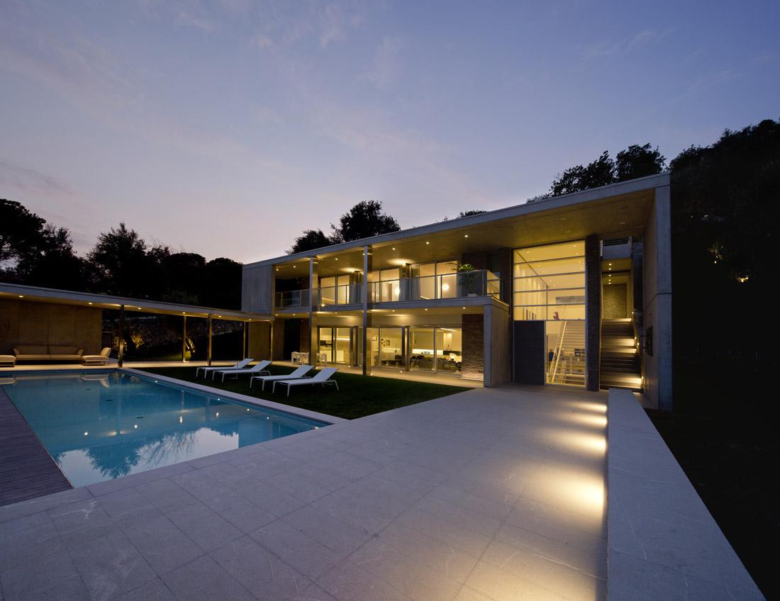 Villa domotica AVE all'esterno