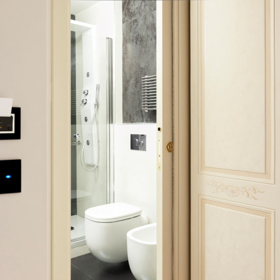 Card reader e Touch switches AVE for Hotel Ripetta Palace