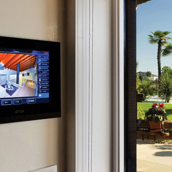 Home automation touch screen AVE for Villa of Abano Terme