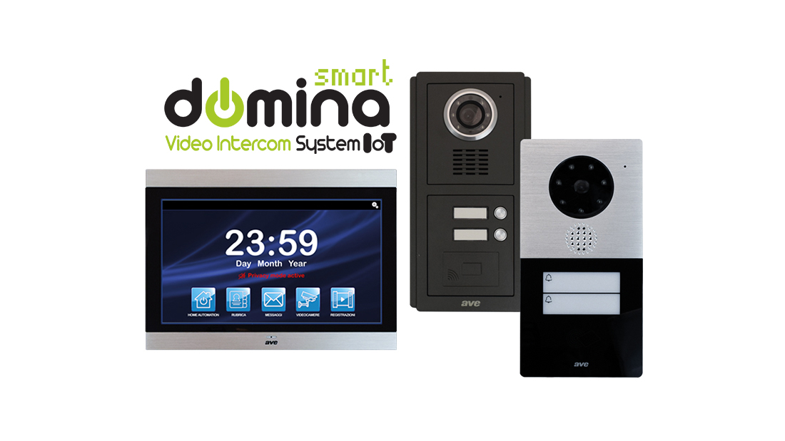 """The video intercom with AVE is smart and integrated, complete of external units and 10"""" interactive Touch Screen"""