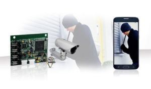 CCTV Board allows sending images via MMS or email