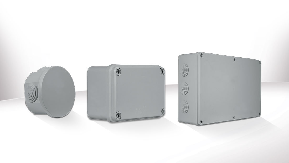 SD & SDL wall junction boxes IP44 and IP65: the best protection against water and dust