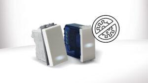 Nasce la gamma antibatterica AVE Domus 100: completa di placche, prese, interruttori tradizionali e a sfioramento