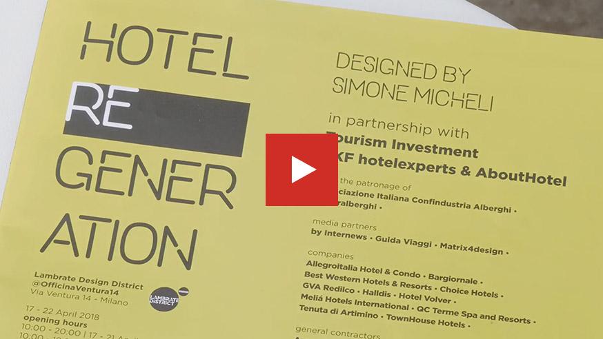 Fuorisalone 2018: la domotica AVE scelta dall'architetto Simone Micheli per Hotel Regeneration