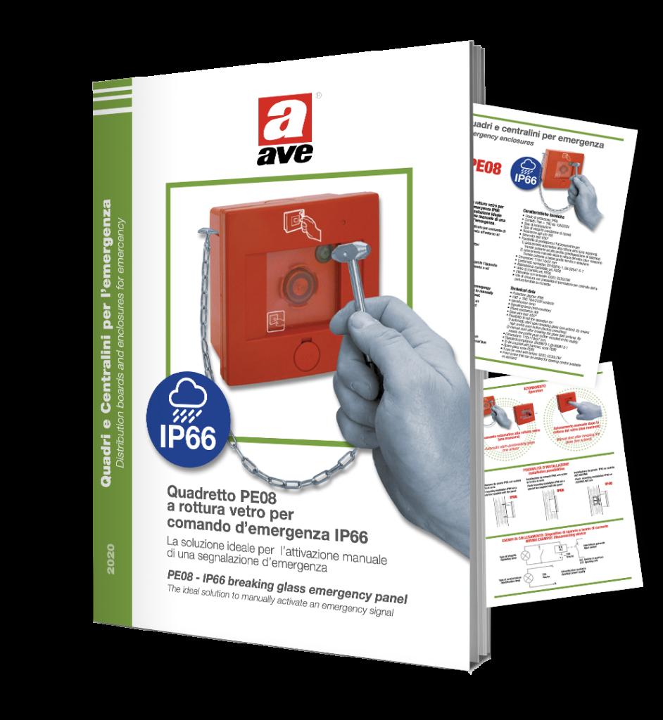 Quadretto PE08 per comando d'emergenza IP66