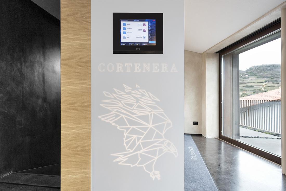 Touch Screen for the management of Cortenera® Winery - Tenuta Ballast di Gambellara (VI)