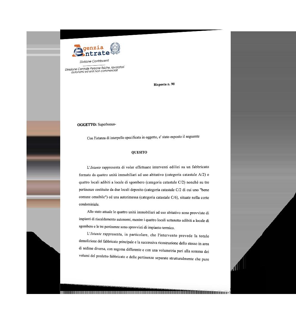 Dichiarazione Agenzia delle Entrate Superbonus VMC