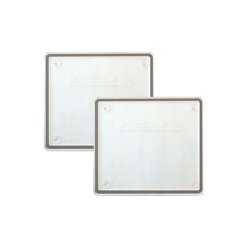Trasparent lids for IP55 junction boxes - brickwork walls